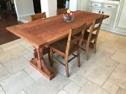 Farmhouse Style Solid Pine Wood Dining Table Kitchen Room 6 Foot
