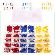480pcs Set Assorted Terminals Crimp Insulated Electrical Wire Connectors Spade