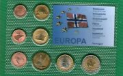 Norge Norway  Set 8 Coins 2004 .g. Unc  A 9  Proff + Cetrificate Animal
