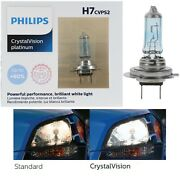 Philips Crystal Vision Ultra H7 55w Two Bulbs Light Drl Daytime Running Lamp Fit