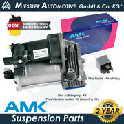 Mercedes Ml-class W166 2012-18 Oem Air Suspension Compressor And Relay A1663200104