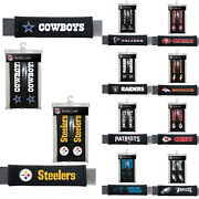 New 2pc Nfl Pick Your Teams Car Truck Bag Seat Belt Pads / Shoulder Pads Covers