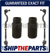 Tie Rod Rods Inner Outer + Rack Boot Kit Set Of 4 For Bmw E46 325xi 330xi L + R