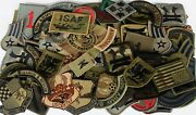 Lot Of 60 Plus Assorted Military Army Air Force Unit Insignia Subdued Patches