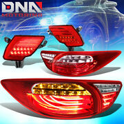 Red Clear 3d Led Tail Lights+ Red Rear Reflector Lamp Fit 13-16 Mazda Cx5 Suv