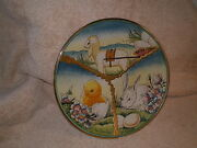 Easter Plate By V Tiziano Hand Etched And Painted By Veneto Flair 1976 612