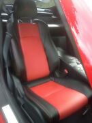 Fits For Nissan 2003-2008 350z Replacement Leather Seat Covers Black/red