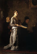 Eakins Thomas Singing A Pathetic Song Artist Painting Reproduction Handmade Oil