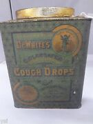 Vintage Dr. Whiteand039s Cough Drop Tin Box Counter Store Display Advertising 929-v