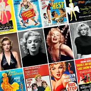 Marilyn Monroe Vintage Movie Posters And Portraits Photo Print Poster Actress Art
