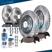 Front And Rear Brake Rotors And Brakes Pads Ford F-150 4wd 5-lug Drilled Rotor Pad