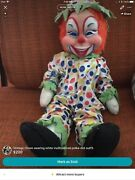Vintage Vtg Clown Doll Creepy Scary Rushton In Great Condition