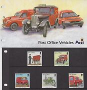 Isle Of Man Presentation Pack 2003 Post Office Vehicles Stamp Set 10 Off 5+