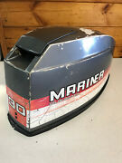 80and039s Mariner 30 Hp Outboard Hood Top Cowl Cowling Shroud Freshwater Mn
