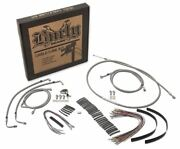 Burly Brand B30-1078 - 18-inch Braided Cable/line Kit W/o Abs -stainless
