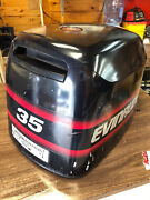 1997 Evinrude 35 Hp 2 Stroke Outboard Hood Top Cowl Cowling Shroud Freshwater Mn
