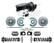 1964-66 Ford Mustang Disc Brake Kit Wilwood Master And Black Booster Coil Over Set