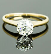 Vintage 18k Yellow Gold Solitaire Diamond Ring
