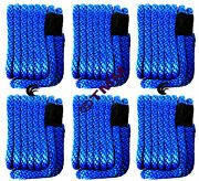 6 New Blue Solid Braid Mfp 3/8 X 15and039 Ft Boat Marine Dock Lines Mooring Ropes