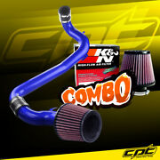For 98-02 Chevy Cavalier 2.2l Blue Cold Air Intake + Kandn Air Filter