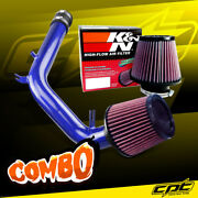 For 99-05 Vw Golf Iv 2.0l 4cyl Blue Cold Air Intake + Kandn Air Filter