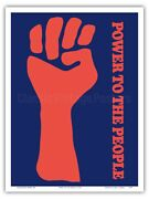 Power To The People - Black Panther Party - Vintage Political Poster Print