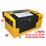 Co2 Laser Engraving Machine Clamp 110v 50w Laser Tube Wood Acrylic Stencil New