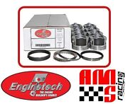 Coated Skirt Flat Top Pistons W/ Moly Rings For Chevrolet Gen Iii 4.8l 293 Lr4