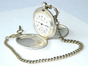 K.serkisoff And Co. Billodes Ottoman Pocket Watch Silver W/ Chain And Key Antique