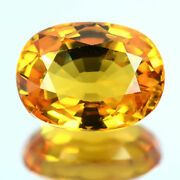 7.58 Ctw Impressive Yellow Spark Natural Very Clean Sapphire