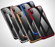 For Iphone 11 11pro Xs Xr Xs Max 6 7 8 Shockproof Silicon Tpu Clear Case Cover
