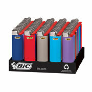 Bic Classic Lighter Assorted Colors 50-count Tray