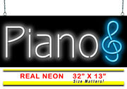 Piano Neon Sign | Jantec | 32 X 13 | Music Band Lessons Bar Classes Buy Used