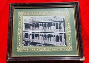 Vintage B And W Photograph Of Heritage Site Well Framed Collectible / Decorative