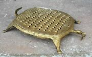 1900and039s Antique Hand Crafted Kitchenware Tortoise Shape Cheese / Vegetable Grater