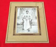 Vintage Bandw Camera Photograph Of Young Father Holding His Son On Lap Collectible