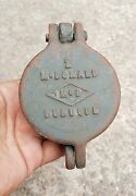 Vintage 2 Mcdonald Dubuque Cast Iron Female Pipe Lockable Hinged Collectible