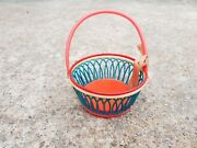 1950s Vintage Old Doll House Top Condition Celluloid Basket Toy Japan