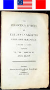 1793 Free Speech Freedom Of American Press Antique Revolutionary War Patriotic