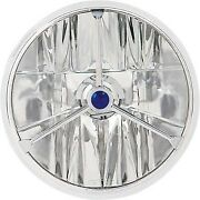 Adjure - T70403 - 7in. Wave-cut Trillient Headlight With Blue Dot