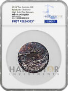2018 Rare Earth High Relief - 5 Oz. Silver Coin - Ngc Ms69 First Releases W/ogp