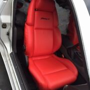 1990-1999 For Nissan 300zx / Z32 Leather Replacement Red/torch Red Seat Covers