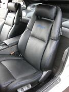 1990-1999 For Nissan 300zx / Z32 Leather Replacement Black Seat Covers