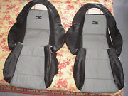 1990-1999 For Nissan 300zx / Z32 Leather Replacement Seat Cover Black/light Grey
