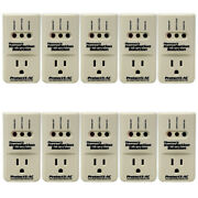 10-pack 3600 Watts Air Conditioner Surge Brownout Voltage Protector New Model
