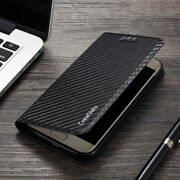 For Iphone X/ Xs/ Xs Max And Xr Carbon Pu Leather Magnetic Flip Wallet Case Cover