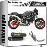 Arrow Full System Exhaust Race Round-sil C Carbon Ducati Monster S2r 800 2004 04