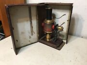 Rare Antique Victorian Magic Lantern Projector Childs Toy With Original Case