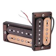 Double Coil Neck Humbucker Pickup With Wood Frame For Lp Sg Guitar Parts