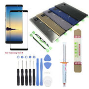 Samsung Galaxy Note 8 N950 Front Screen Glass Lens Back Cover Replacement Kit